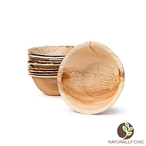 Naturally Chic Palm Leaf Compostable Bowls | 5