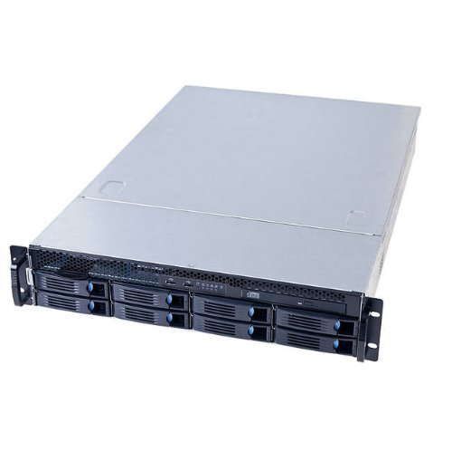Chenbro RM23608M2-L No Power Supply 2U Entry Computing and Storage Server Chassis w/ 8-Port 6Gb/s Mini-SAS Backplane & Low Profile Window - RETAIL