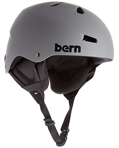 Macon Helmet Matte - Bern Macon Eps Matte Grey W/Crank-Fit Helmet, L