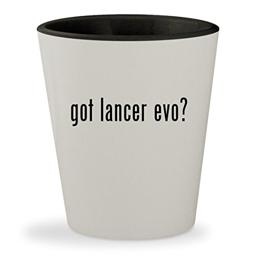 got lancer evo? - White Outer & Black Inner Ceramic 1.5oz Shot Glass (2009 Inner Wing)