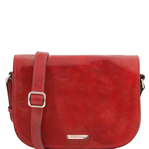 Tuscany Leather Rachele Leather shoulder bag Red by Tuscany Leather