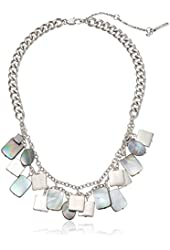"Kenneth Cole New York ""River"" Shaky Shell Bead 2 Row Necklace 22"" + 2"" Extender"