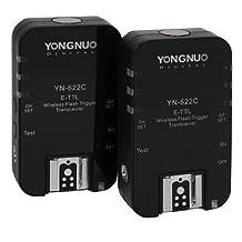 Yongnuo YN-622C wireless TTL, HSS flash trigger/transceiver for CANON (PAIR) ---- 5D MkI/II/III, 7D, 6D, 60D, 50D, 40D, T1i, T2i, T3i, T4i, T5i, 580 EX/EXII, 600 EX RT, 430 EX/EX II