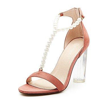 pwne Sandalias De Mujer Zapatos Club Fabric Summer Party &Amp; Traje De Noche Casual Zipper Chunky Talón Perla Negra 5 Almendras En &Amp; Más US5 / EU35 / UK3 / CN34