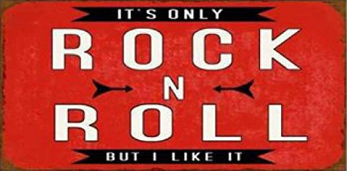 (1art1 Music Magnetic Tin Sign, Vintage Style Magnet - It's Only Rock N Roll, But I Like It, Retro Style (4 x 2 inches))