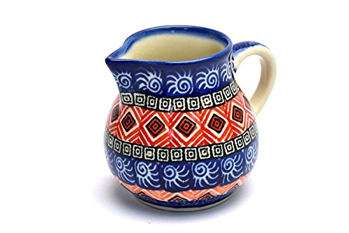 Polish Pottery Creamer - 4 oz. - Aztec Sun