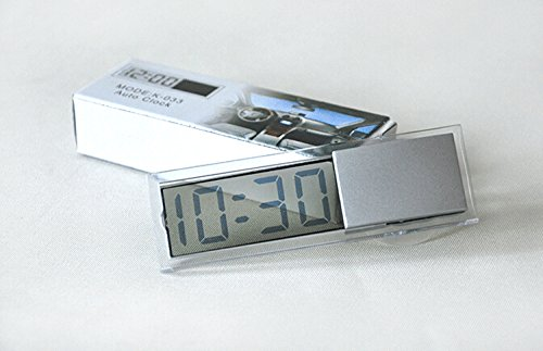 Durable Digital LCD Display Car Electronic Clock with Sucker Cool,stick up Digital Clock
