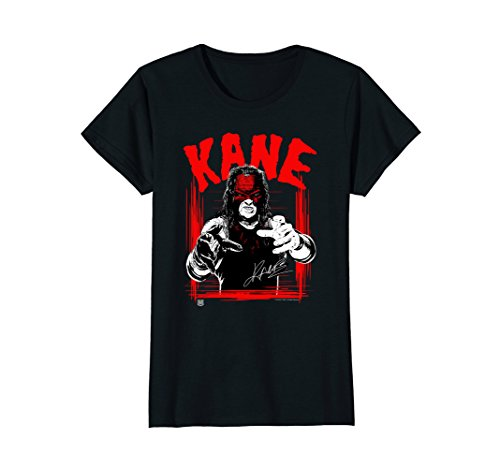Womens WWE KANE Horror Font Small Black by WWE