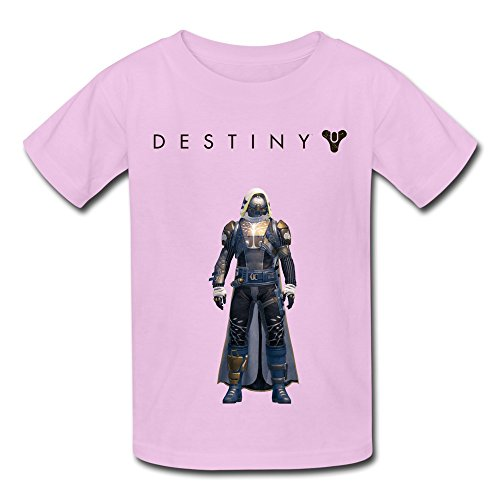Price comparison product image QMY Kid's Retro Destiny Ironbanner Hunter T-shirts Size L Pink