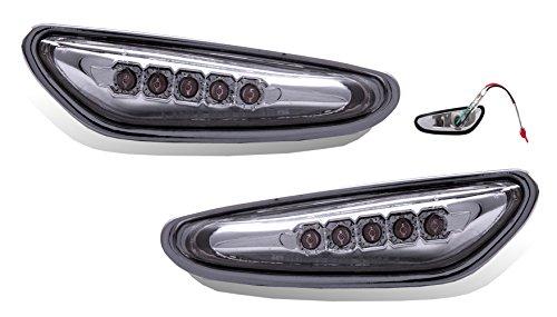 SPPC L.E.D Side Markers Smoke For Bmw 1992-1998/E46 1999-2005 (3 Series)/E34 89-1996/E39 97-2003/E60 2004-10/X3 - Passenger and Driver Side