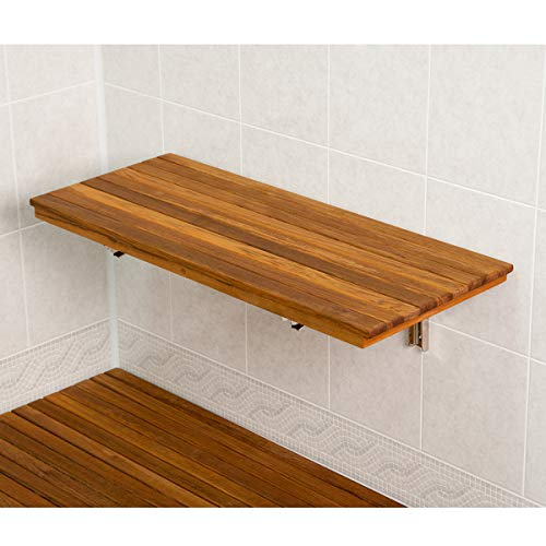(Plantation Teak Wall Mount Fold Down Shower Bench/Seat (30