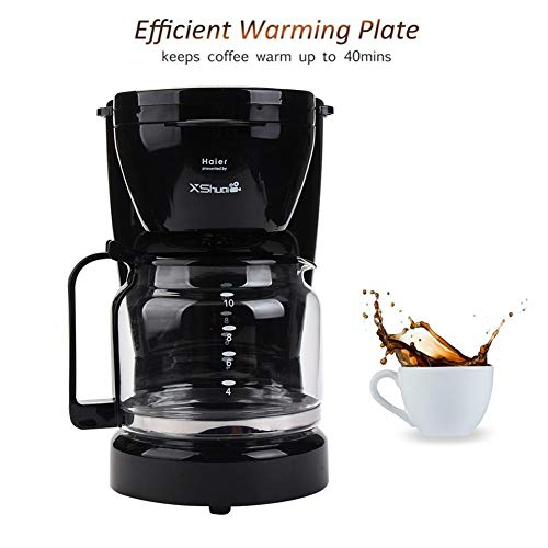 10 Cup Thermal Coffee maker,Automatic Coffee Machine with Glass Carafe,Black