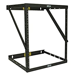 Tripp Lite 8U/12U/22U Expandable Wall-Mount 2-Post Open Frame Rack, Adjustable Network Equipment Rack, Patch Depth, 11.5\