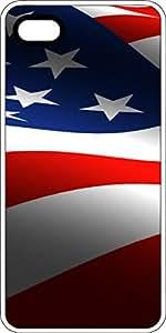 American Flag White Plastic Decorative iPhone 6 Plus Case