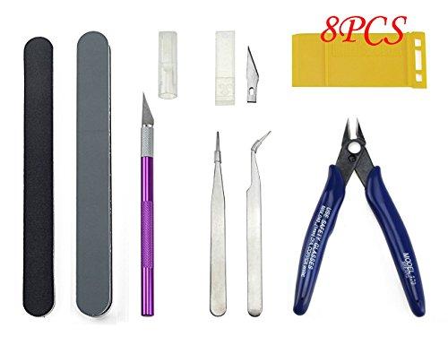 BXQINLENX 8 PCS Gundam Modeler Basic Tools Craft Set For Car Model Assemble Building(D) (Model Assemble)