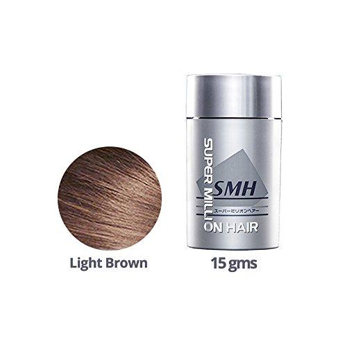 Super Million Hair 1 x 15g Hair Building Fibres - No.3 Light Brown