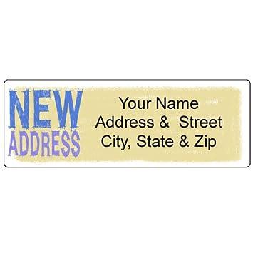 Amazon com : New Address Label - Customized Return Address
