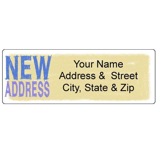 New Address Label - Customized Return Address Label - 90 Labels]()