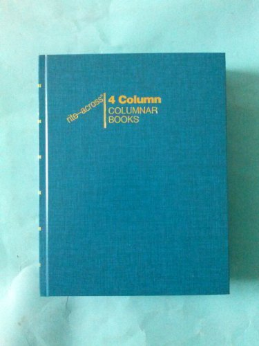Boorum & Pease, 96204, Columnar Book, 4 Column, 80 Pages, 9 1/2'' x 7 1/2'' (Blue) by rite-across