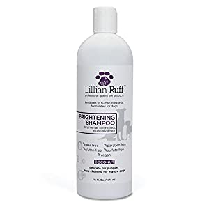(470ml) – Brightening & Whitening Shampoo For Dogs by Lillian Ruff – Tear Free Coconut Scent With Aloe For Normal, Dry… Click on image for further info.