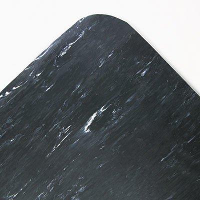 Crown CU3660SB Cushion-Step Surface Mat, 36 x 60, Spiffy Vinyl, Black