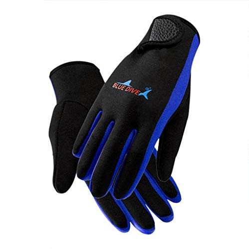 IPENNY Super Stretch Scuba Diving Gloves 1.5mm Neoprene Wetsuit Gloves with Thermal Lining Anti-Slip Water Snorkelling Surfing Swimming Kayaking Coasteering Watersports Gloves for Men Women (Super Stretch Neoprene Gloves)