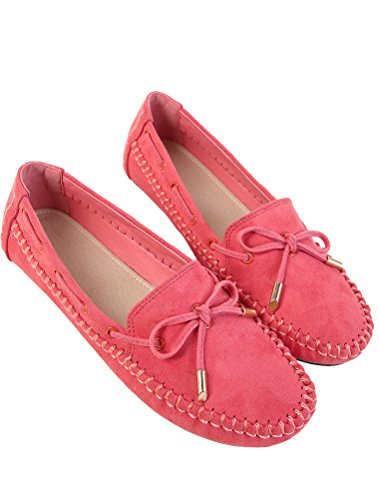 Leather Style3 Flat Rose Women Pumps MatchLife Shoes zwqT5na