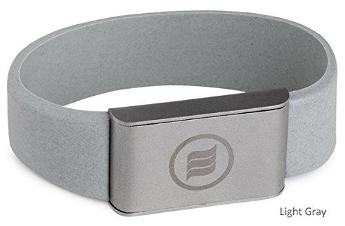 memonizerBODY EMF Protection Wrist Band from Memon of Germany (Medium, Light Gray)