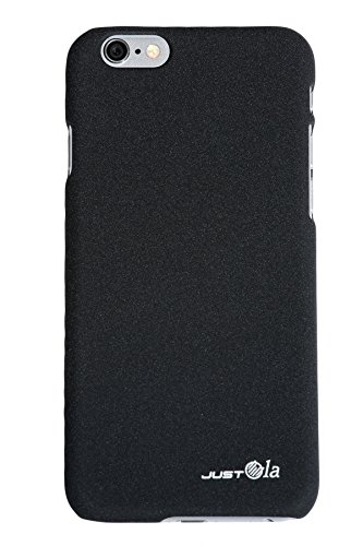 iPhone 6s Case / iPhone 6 Case, JustOla [J-Sand Series] iPhone 6 Cases / iPhone 6s Cases, Slim, Perfect fit, Scratch Protection with Unique QuickSand touch Hard Case Cover for iPhone 6 / iPhone 6s (2016) - Black