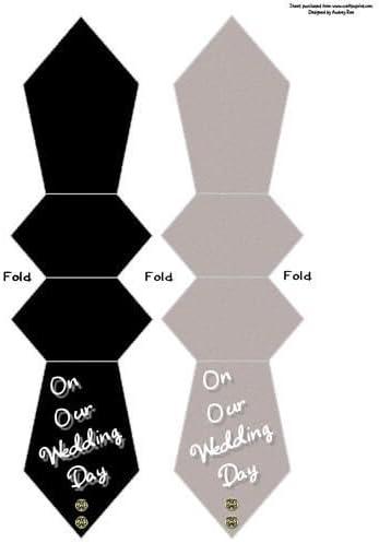 Corbata con forma de tarjeta/marcador de libros boda día dorado ...