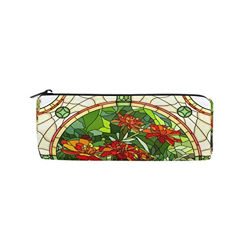 - Pen Pencil Case Vintage Marble Ceramic Tile Flower Makeup Bag Zipper Pouch Purse for Boys Girls Students Stationery Office Supplies