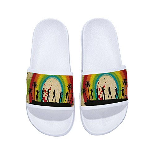 Womens for White Dancing Slippers Drying Tree Rainbow Non Grils Buteri Quick Slip Stage Slippers Coconut wqOaZCS