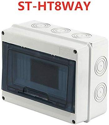 SENRISE caja de interruptor IP65 de 5/8 vías, interruptor aislador para fuente eléctrica al aire libre, blanco: Amazon.es: Bricolaje y herramientas