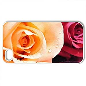 Beautiful roCase For Iphone 5/5S Cover (Flowers Series, Watercolor style, White)