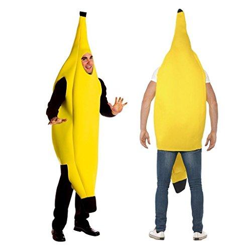 2win2buy Costume Banana Suit Lightweight Halloween Adult Banana Funny (Banana Suit Halloween)