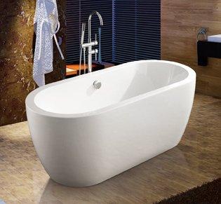 Vasca da bagno freestanding Avior 155x77 cm - centro stanza con ...