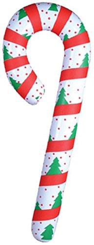 Rhode Island Novelty Dozen Festive Inflatable Candy Cane Christmas Decoration -