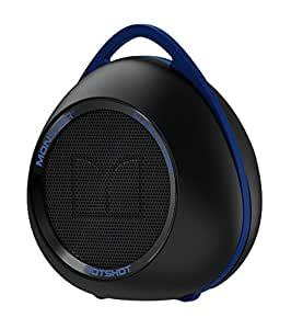 Monster 129293-00 Bocina Portátil Superstar Hotshot con Bluetooth, color Negro/Azul Neon