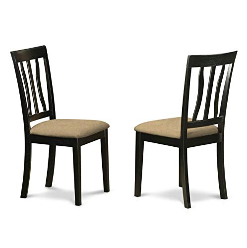 9 Pc Dinette set with a Dining Table and 8 Kitchen Chairs in Buttermilk and Cherry