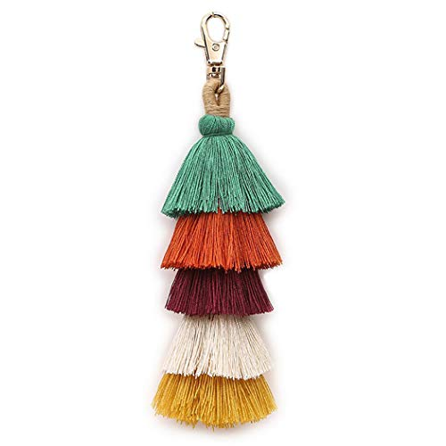Key Ring Purse Keychain Handbag - Tassel Keychain Fashion Multipurpose Key Ring Pendant Pom Pom Tassel Bag Charm