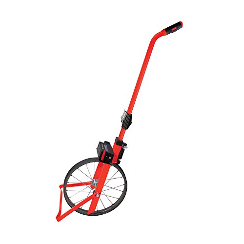 SitePro 31-PS401M Professional 1M Measuring Wheel - Metric, Compact, Fluorescent-Red by SitePro