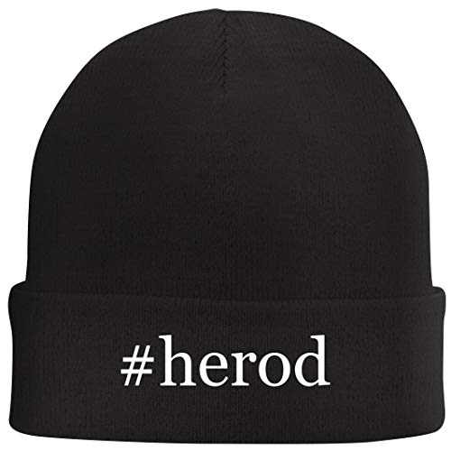 Tracy Gifts #Herod - Hashtag Beanie Skull Cap with Fleece Liner, Black, One Size