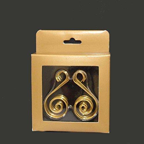 Kurt Adler Gold Ornament Hooks, 30 Pieces