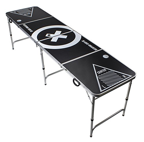 Beer Pong Tisch - Audio Table Design - Beer Pong Table inkl. Ballhalter und 6 Bälle