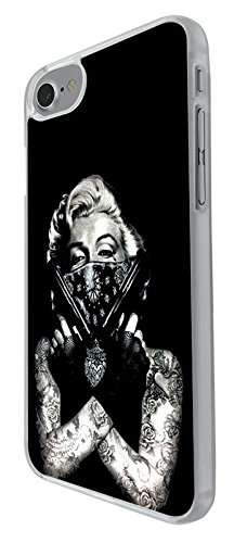 "003307 - Marilyn tattoos guns bandit Design iphone 7 plus 5.5"" Hülle Fashion Trend Case Back Cover Metall und Kunststoff - Clear"