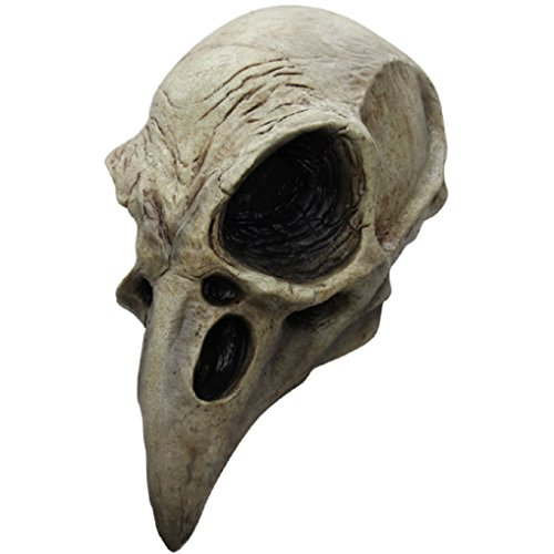 Faerynicethings Adult Size Crow Skull - Latex Mask - Raven -