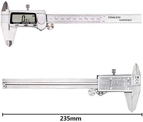 Zixin Stainless Steel Digital Vernier Caliper Digital Caliper Electronic Caliper 0-150 Metric Metric Three Display (Size : 0-150mm)