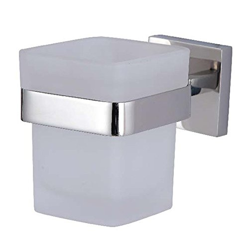 KES A2550 Bathroom Lavatory Single Glass Tumbler with Holder Wall Mount, Polished Stainless Steel