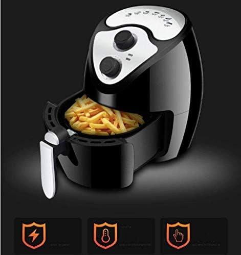 weiwei Accessoires de friteuse à air Friteuse à air Chaud compacte avec Grille de friture Amovible 2,6 L 1300 W Noir