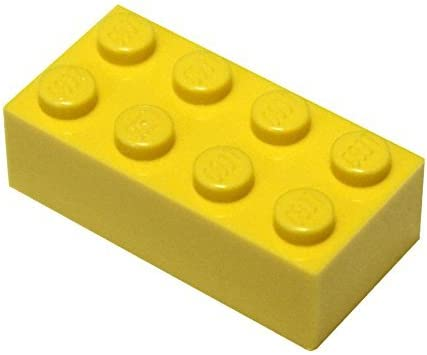 LEGO Parts and Pieces: Yellow (Bright Yellow) 2x4 Brick x50